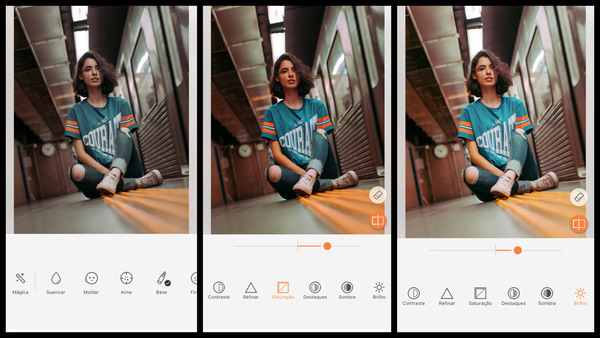 Tutorial de edição para deixar uma foto estilo Tumblr usando as ferramentas do AirBrush