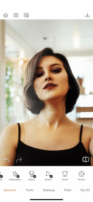 young woman with Cruella look