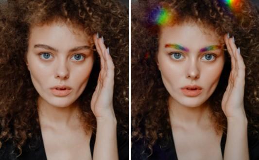 cejas de arcoíris