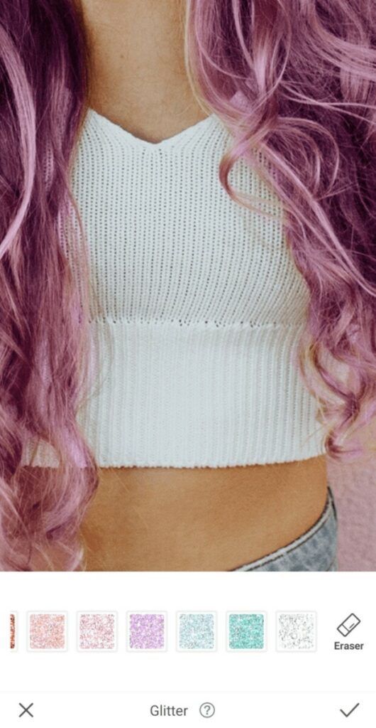 close up of a white crop top