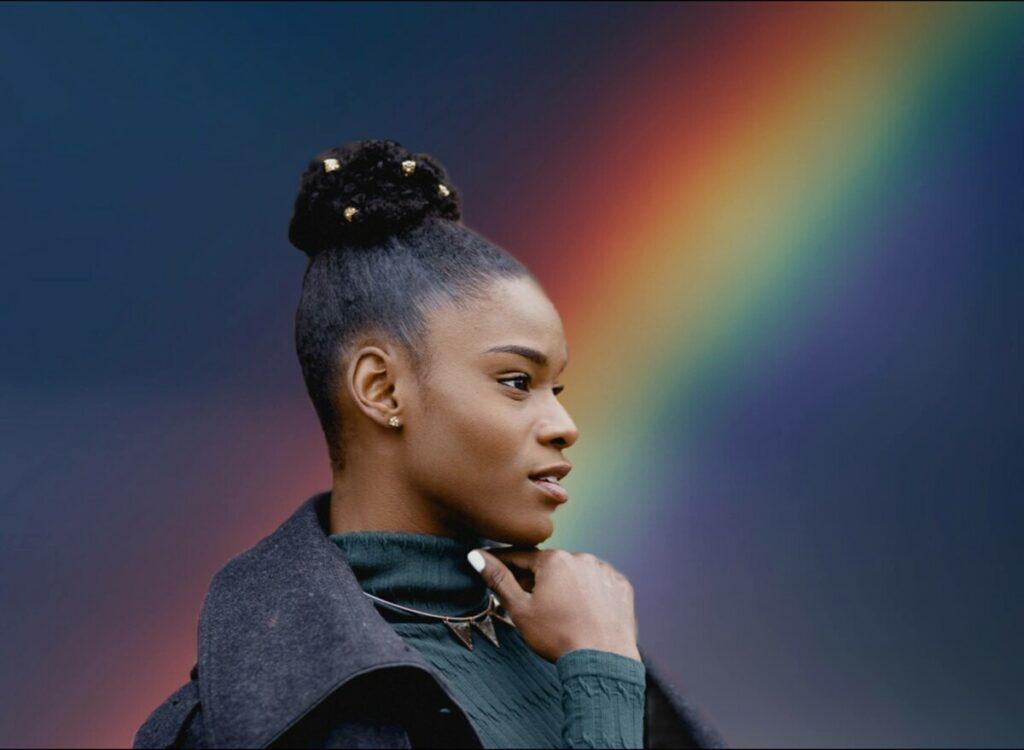 Rainbow color black diversity
