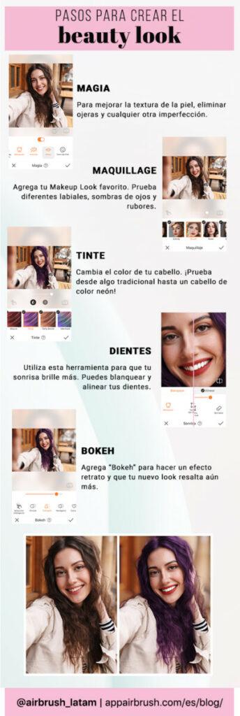 infografía sobre como crear un look de maquillaje