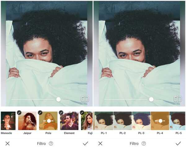 Foto de uma garota de cabelos cacheados embaixo de um edredom branco sendo editada no app AirBrush