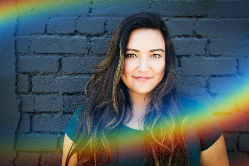 Rainbow emojis edit using the Pride filter