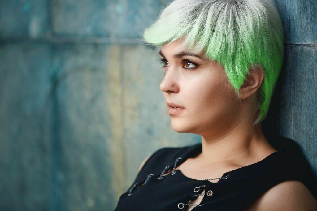 Olympics edit using green hair dye