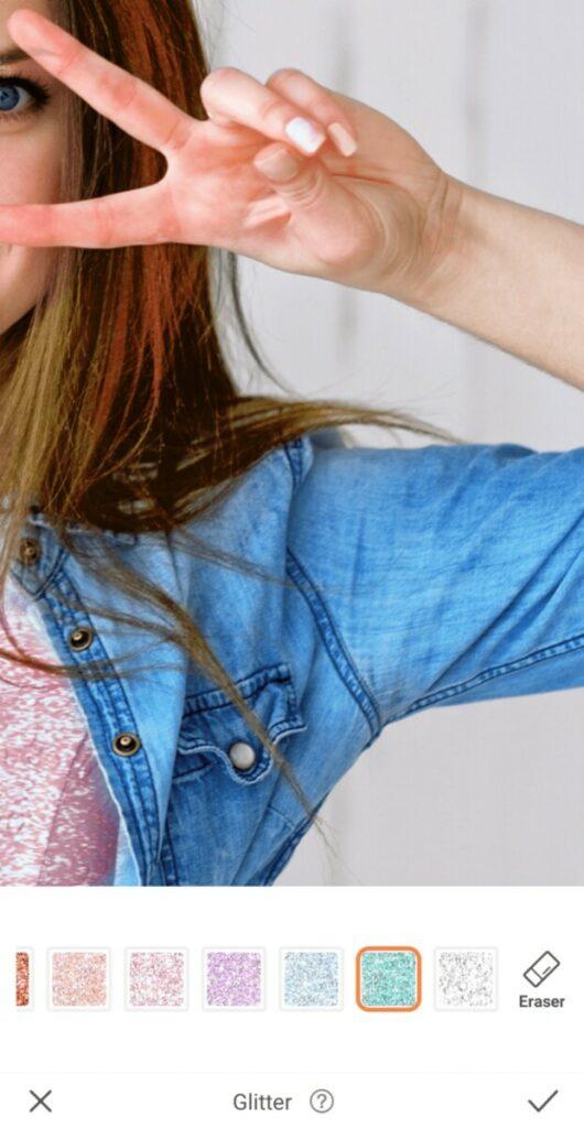 closeup of chambray shirt