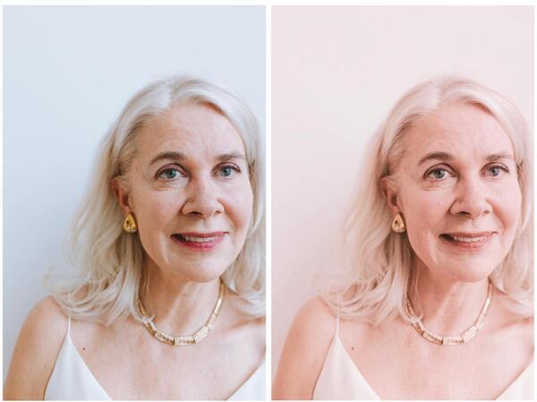 Mulher de idade branca