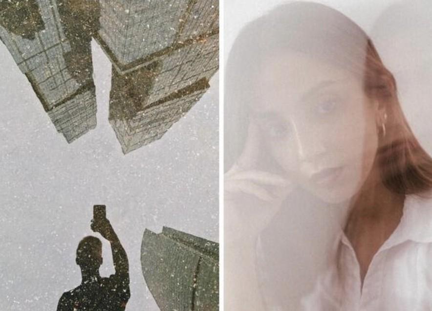 selfies creativas con reflejo del agua