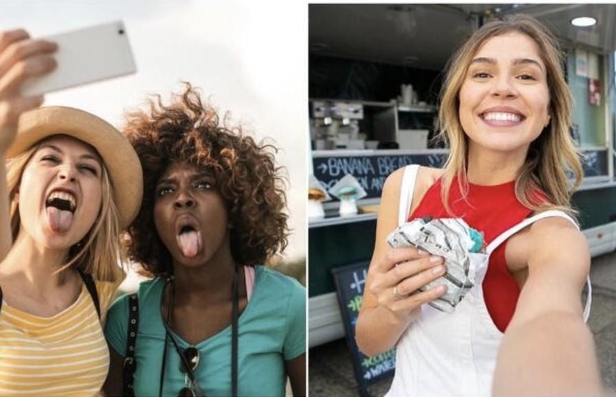 selfies espontáneas