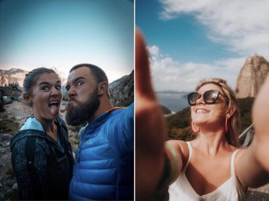 selfies en la montaña