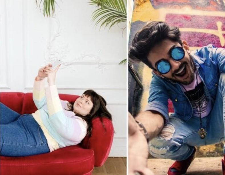 selfies con diferentes poses