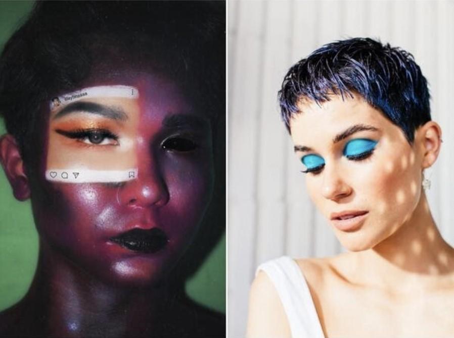 selfies con maquillaje artístico