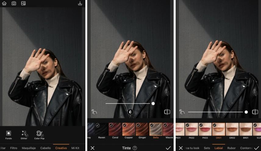 edición de foto de mujer durante la Golden Hour, con sombras y luz en el rostro