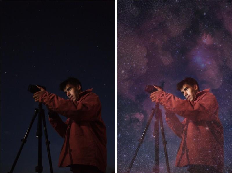 edición de fotos oscuras de noche