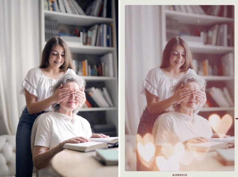 edición de fotos lindas con abuelos