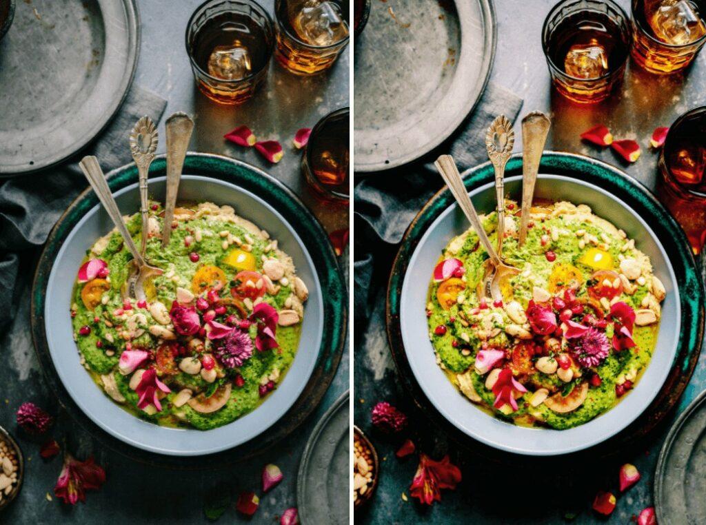 Foodie edit with Sweet filter