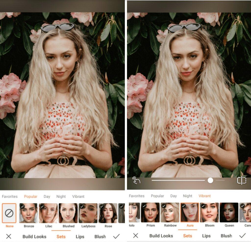 Virgo edit with Aura makeup filter