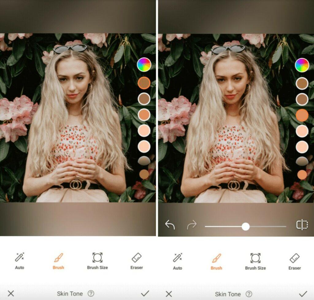 Virgo edit using Skin Tone tool