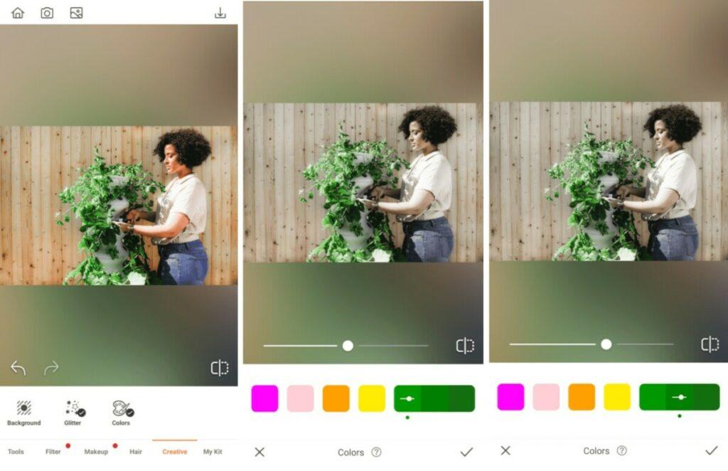 Garden photos edit using Colors Tool