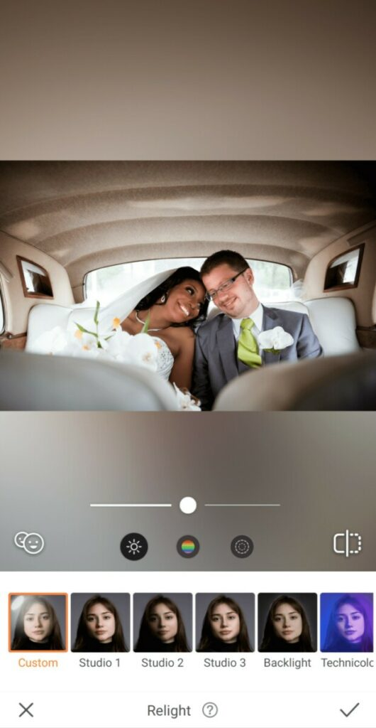 married couple sitting in a car
