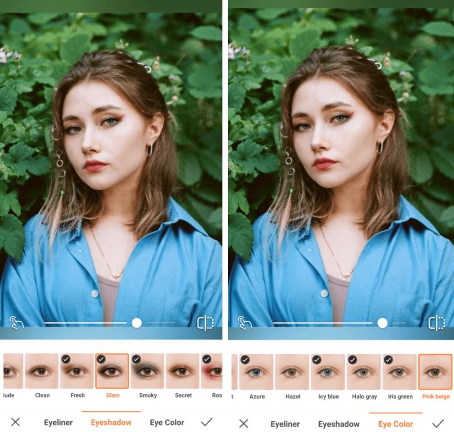 Leo edit using AirBrush makeup