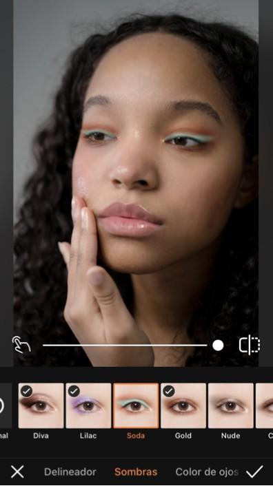 edición de fotos de Maquillaje Glowy