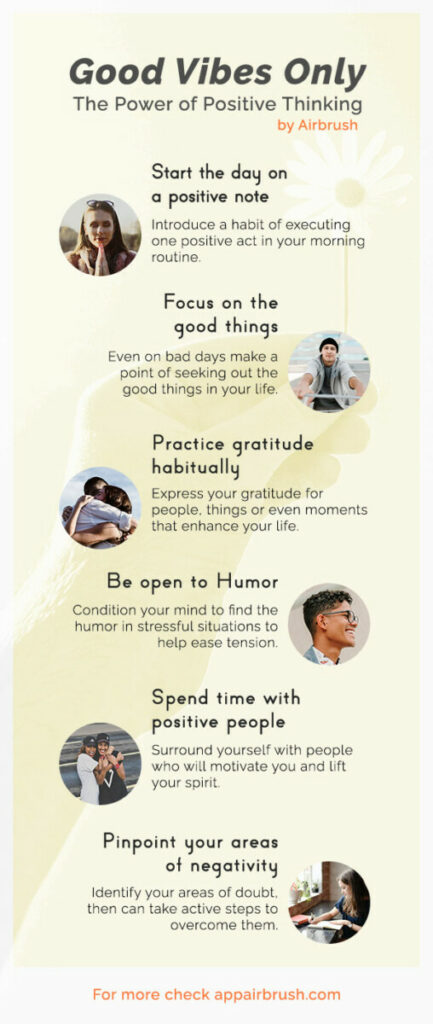 Positive Thinking Infographic