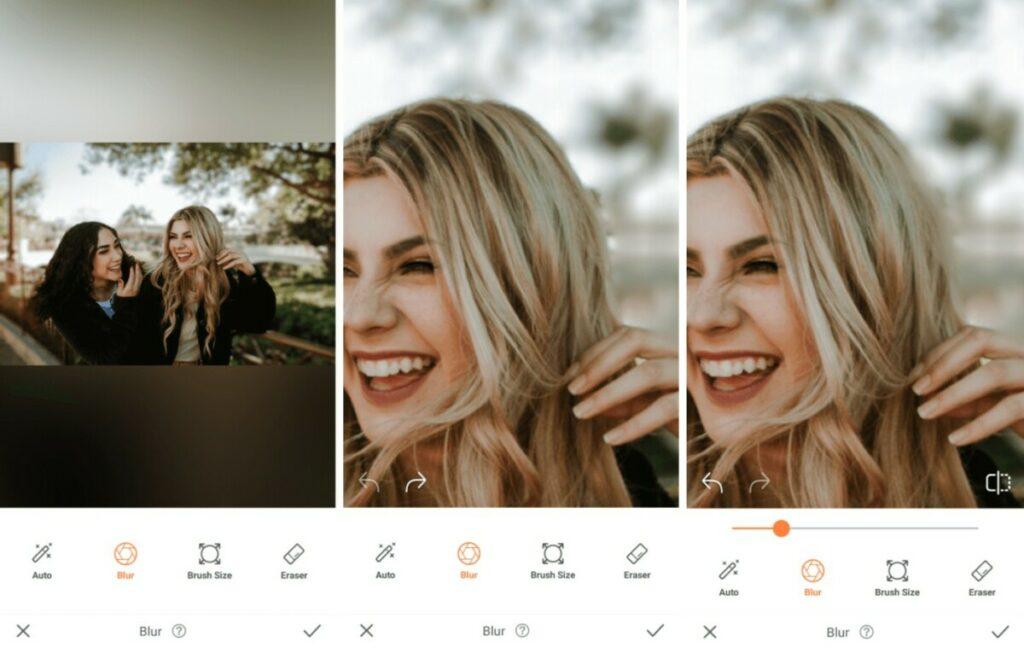 Oktoberfest edit using the Blur tool